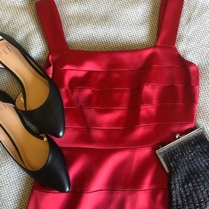 Banded body con dress